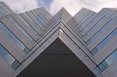 buduje architecure geometrycznego urzędu Zdjęcia Royalty Free