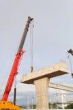 Buduje bridżowego żurawia Obrazy Royalty Free