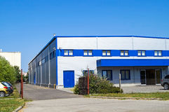 buduje koncepcji pudełka logistyki przemysłowych magazyn składowania Obraz Stock