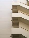 Buduje pożarniczej ucieczki schody Zdjęcie Royalty Free