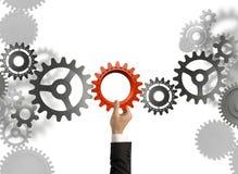 Buduje system biznesowego Obrazy Stock