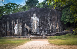 Buduruwagala ancient buddhist temple, Sri Lanka Stock Image
