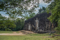 Buduruwagala ancient buddhist temple, Sri Lanka Stock Photo