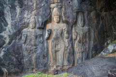 Buduruwagala ancient buddhist temple, Sri Lanka Royalty Free Stock Photos