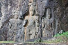 Buduruwagala Buddha Sri Lanka Lizenzfreies Stockbild