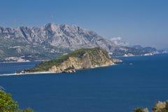 budva海岛montenegro nikola sveti 库存图片