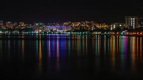 Budva τή νύχτα Στοκ Φωτογραφία