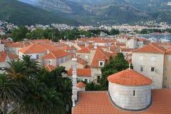 Budva. The view of Budva old town (Montenegro Stock Image