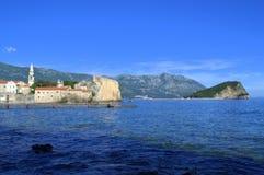 Budva bay panoramic view,Montenegro Stock Photography