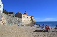 Budva beach,Montenegro Stock Photo