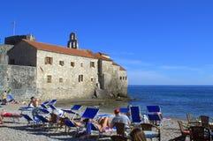 Budva beach,Montenegro Royalty Free Stock Photography