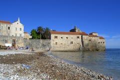 Budva beach,Montenegro Stock Image