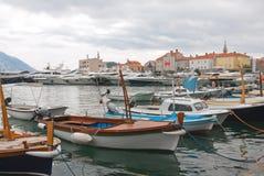 Budva boats Stock Photo