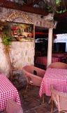 Budva-Café stockfotos