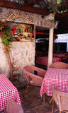 Budva cafe. Montenegro, Budva, cafe, summer time Stock Photos
