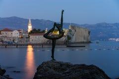 Budva dancer sculpture, Budva, Montenegro Stock Photography