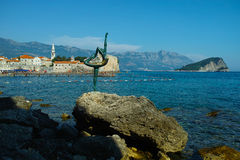 Budva dancer  statue in Montenegro Stock Photos