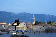 Budva in the evening Royalty Free Stock Photos