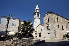 Budva: Iglesia de Sveti Ivan Fotografía de archivo libre de regalías