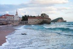 Budva jest Czarnogórskim miasteczkiem Obraz Royalty Free