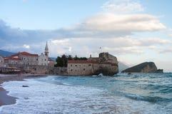 Budva jest Czarnogórskim miasteczkiem Fotografia Royalty Free