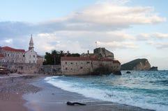Budva jest Czarnogórskim miasteczkiem Obrazy Stock