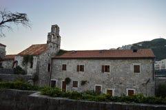 Budva. Little garden in center of Budva historic town Royalty Free Stock Image