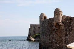 Budva miasta ściany, Montenegro Obrazy Stock