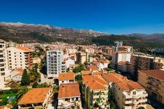 Budva, Monténégro, la vue du gratte-ciel dans le c Photographie stock