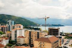 Budva, Monténégro, la vue du gratte-ciel dans le c Images libres de droits