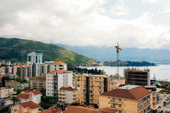 Budva, Monténégro, la vue du gratte-ciel dans le c Image libre de droits