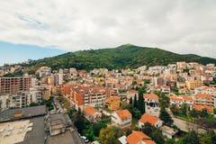 Budva, Monténégro, la vue du gratte-ciel dans le c Photos libres de droits