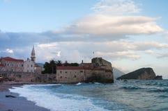 Budva Montenegrin городок Стоковые Фото