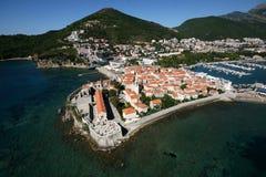 budva montenegro老城镇 图库摄影