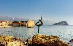budva montenegro老城镇 库存图片