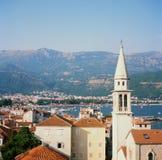 budva montenegro视图 库存图片