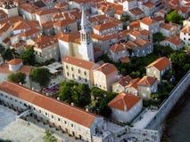 Budva Montenegro Arkivfoton