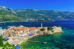 Budva Montenegro Arkivfoto
