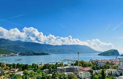 Budva, Montenegro, adriatische Küste Lizenzfreie Stockfotografie