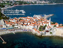 Budva, Montenegro. Aerial view at Budva, Montenegro Royalty Free Stock Photography