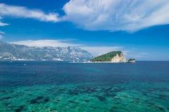 Budva Montenegro Azure Sea Lizenzfreie Stockfotografie