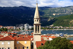 Budva. Montenegro. Budva. Beautiful view from the top of the historical part of the city. Budva is a UNESCO World Heritage Site Stock Photography