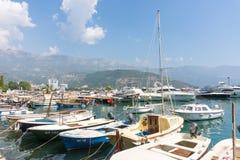 Budva, Montenegro, Boat marina Stock Photography