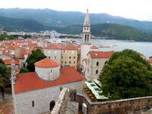 Budva Montenegro. Old city city view Stock Images