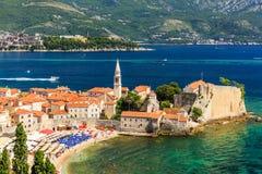Budva, Montenegro. Panoramic view of the old town Budva, Montenegro Royalty Free Stock Image