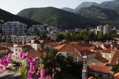 Budva, Montenegro. Sea view of old town in Budva, Montenegro royalty free stock image