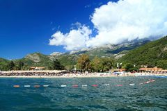 Beaches of Montenegro on the Adriatic coast Royalty Free Stock Image