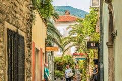 Budva Montenegro, Sierpień, - 28, 2017: Stary Grodzki Budva, Montenegro Pierwszy wzmianka ten miasto - więcej niż 26 wieków temu  Obraz Stock