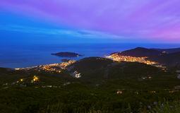 Budva Montenegro at sunset Royalty Free Stock Photos