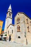 Budva, Montenegro - Sveti Ivan church stock image